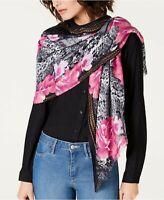 INC International Concepts python snake print women's scarf wrap pashmina PINK