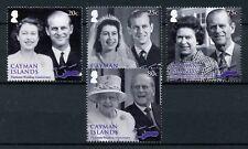 Cayman Islands 2017 MNH Queen Elizabeth II Platinum Wedding 4v Royalty Stamps