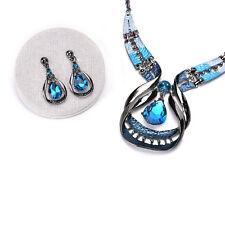 Crystal-Choker Fashion Chunky Jewelry Statement Women ChainPendantBib Necklace T