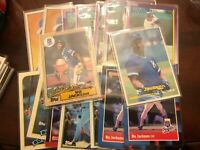 1987 Topps Bo Jackson Future Stars Rookie Card RC AND 16 LOT OTHER BO CARDS