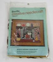"Bucilla Creative Needlecraft "" Fireside "" Picture Wall Panel 20"" x 24"" NEW"