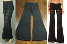 NIGHTCAP by CARISA RENE Sheer Spanish Lace Stretch Bell Bottom Leg Pants 2