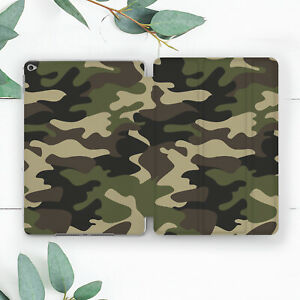 Green Camouflage Military Boys Case For iPad 10.2 Pro 12.9 10.5 9.7 Air 3 Mini
