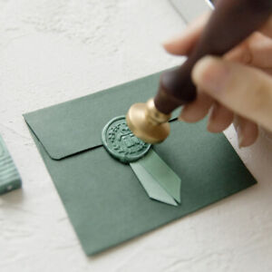 Vintage Multicolor Ribbon DIY Wax Badge Seal Stamp Kit Envelope Invitation Card