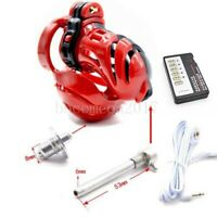 New Design Mens Chastity Belt Electric Shock Chastity Cage Device Lock Male
