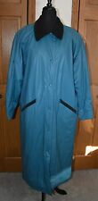 VTG Women's Rain Trench Coat MISTY HARBOR Large NM 100% PVC Outer WATERPROOF