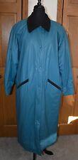 VTG Women's Rain Trench Coat MISTY HARBOR Large NM 100% PVC Outer WATERPROOF