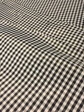 "NEW Black White Check GINGHAM Fabric 59"" Wide Buy by the Half Yard"