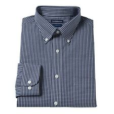 Men's Croft & Barrow Slim-Fit Long Sleeve Button Down Grid Broadcloth Shirt