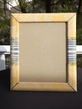 NWOT Helene Batoff Gold Floral Damask Fabric 8x10 Tabletop Picture Frame