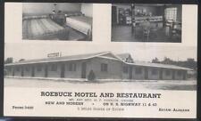 Postcard EUTAW Alabama/AL  Roebuck Tourist Motel Motor Court 1940's