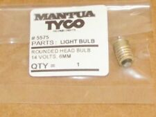 1 #5575 ROUND TOP BULB BY MANTUA & TYCO, 1 ROUNDED SCREW BASE BULBS IN PACK, NEW