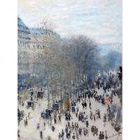 Claude Monet Boulevard Des Capucines Canvas Art Print Poster