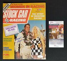 David Pearson Signed Stock Car Racing Magazine Vintage  October 1972 JSA COA