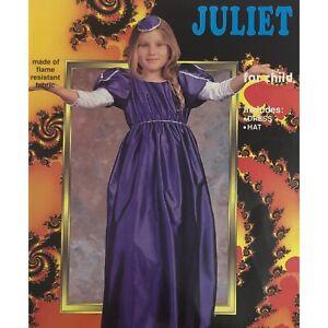 Girl's Juliet Costume Blue Renaissance Dress Halloween Dress-Up Size Medium 8-10