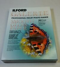 NOB Ilford Galerie Smooth Gloss Photo Paper 100 Sheets 8.5x11 2880dpi 250gsm
