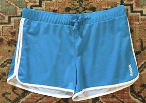 Reebok Dri Lined Athletic Shorts Womens/Juniors Size 11/12 Teal With White