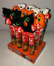 Ty Beanie Boos Halloween Topper - Shadow The Black Cat Jelly Beans 2016 NEW Baby