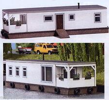 Busch 1441, Bateau maison blanc, H0 Maquettes De Monde Kit De Construction 1:87