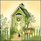 Art Print, Framed or Plaque by Linda Spivey - Cottage Outhouse 3 - LS807-R
