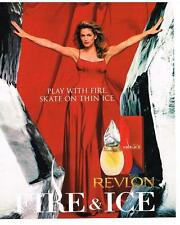 PUBLICITE advertising  1996  USA  REVLON  parfum  FIRE & ICE  CINDY CRAWFORD