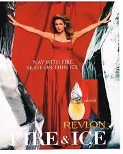 PUBLICITE advertising  1996  USA  REVLON  parfum  FIRE & ICE  CINDY CRAWFORD