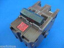 50A Federal Pacific Stab-Lok Fpe 50 Amp 2 Pole Na Breaker Vintage Brown Plastic
