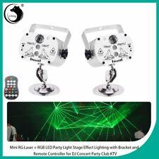2PCS 60 Patterns Stage Light Projector LED RGB Laser DJ Disco KTV Party Decor US