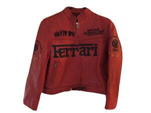 Kids Ferrari Michael Schumacher F1 World Champion 2003 Biker Jacket Uk XL T2135