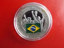*Cook Island 1 Dollar 2001 Silber PP(500 -ca20g)*Fußball WM/Brasilien (Schu41)