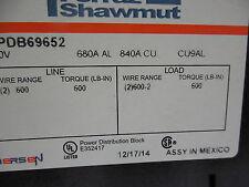 FERRAZ SHAWMUT,MPDB69652,POWER DISTRIBUTION BLOCK,600V,680A AL,840A CU,CU9AL