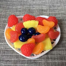 Mix Fruit Slices on Plate For 18-inch American Girl Dolls Pineapple Blueberry