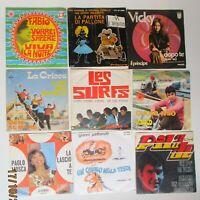 LOTTO 9 45 GIRI ANNI 60 - MAZZETTI-VICKY-LES SURFS-PILADE-PETTENATI-CRAZY BOYS