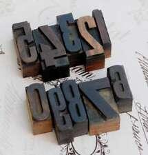 0-9 Zahlen Mix Holzlettern Letter Holzzahlen Zahl Vintage Handstempel wood type