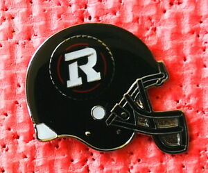 "Large Ottawa Redblacks CFL football helmet ""R"" logo pin made by JFSC"