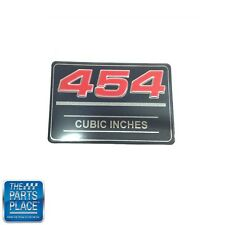 Chevrolet 454 Cubic Inches Valve Cover Metal Insert Decal GM # 12393652