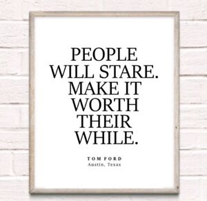 Tom Ford Fashion Typography Print Poster Unframed Home Quote Dressing Room
