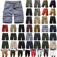 Mens Summer Shorts Cargo Army Casual Pants Short Trousers Cotton Combat Trousers