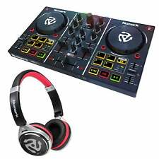 Numark Party Mix DJ Controller with Built-in Lightshow + HF150 DJ Headphones