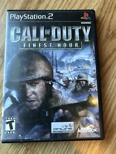 Call of Duty: Finest Hour (Sony PlayStation 2, 2004) PS2 Cib Game H3