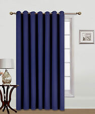 "1PC PATIO DOOR 14 GROMMETS WINDOW PANEL CURTAIN THERMAL BLACKOUT NAVY BLUE 100""W"