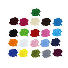 10Pcs Small Rose Iron On repair Patches flower Bulk Embroidery Appliques