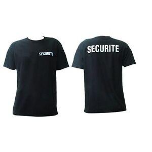 Lot de 10 T-shirts SECURITE NOIR