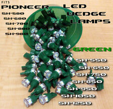 LOT OF 4 - Pioneer SX-850 Receiver GREEN 8V LED T-10 WEDGE LAMPs