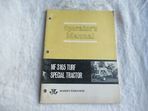Massey Ferguson MF3165 turf special tractor operator's manual factory original