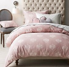 NWT Restoration Hardware Baby&Child Chandelier Damask Duvet Cover Dusty Rose F/Q