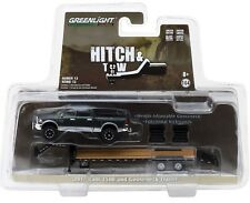 1:64 GreenLight *HITCH & TOW 12* Green 2017 RAM 2500 w/FLATBED GOOSENECK TRAILER