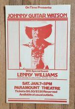 Vintage (1978) JOHNNY GUITAR WATSON Lenny Williams POSTER