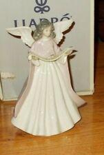 Lladro Pink Angel Tree Topper Original Box Angel Navidad Cantante 5831 Figurine