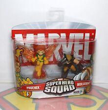 NEW 2007 Marvel Super Hero Squad Figure 2 Pack- X-Men Green Phoenix & Wolverine